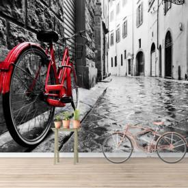 Fototapete, Bicicletă roșie