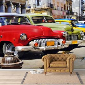 Fototapete, Parc auto de-a lungul străzii.