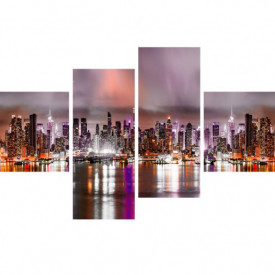 Multicanvas, Orașul roz în timpul nopții