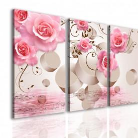 Multicanvas, Trandafirul roz pe un fundal 3D.
