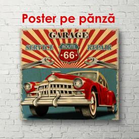 Poster, Automobil retro