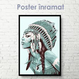 Poster, Fată indiană