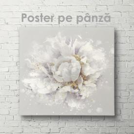 Poster, Floare delicată cu detalii aurii