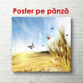 Poster, Fluturii peste un câmp de grâu