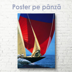 Poster, Iaht cu vele
