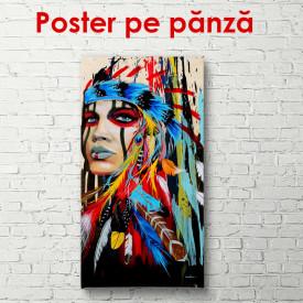 Poster, Indianul pictat în culori strălucitoare