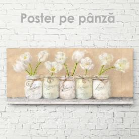 Poster, Lalele albe în vaze