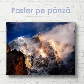 Poster, Munți acoperiți de zăpadă