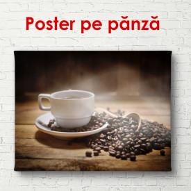 Poster, O cană de cafea pe masă
