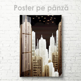 Poster, Oraș abstract