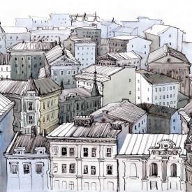 Poster, Orașul din Europa pictat