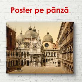 Poster, Orașul vintage de culoarea nisipului