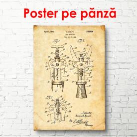 Poster, Schița cu tirbușon