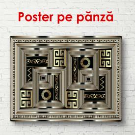 Poster, Sigla Versace pe un fundal negru