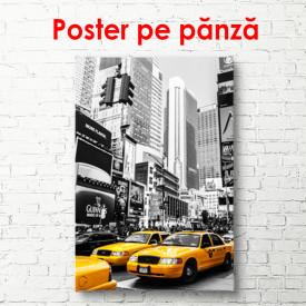 Poster, Taxi galben într-un oraș