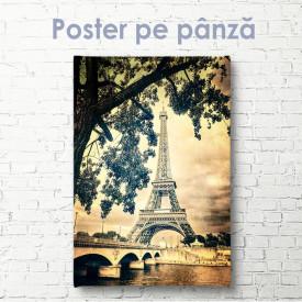 Poster, Turnul Eiffel în stil retro vintage