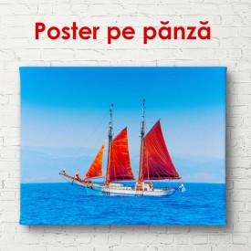 Poster, Yacht cu pânzele stacojii