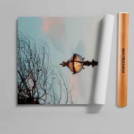 Stickere 3D pentru uși, Un felinar negru, 1 foaie de 80 x 200 cm