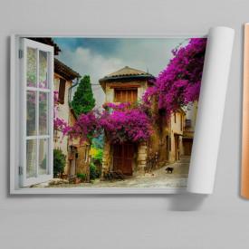 Stickere pentru pereți, Fereastra 3D cu vedere spre un cartier plăcut