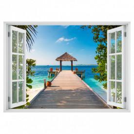 Stickere pentru pereți, Fereastra cu vedere spre o plajă