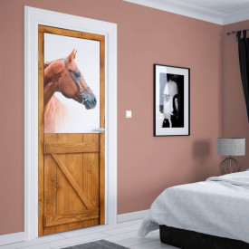 Stickerele decorative, pentru uși, Calul minunat, 1 foaie de 80 x 200 cm
