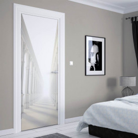 Stickerele decorative, pentru uși, Holul alb cu coloane , 1 foaie de 80 x 200 cm