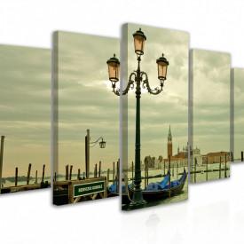 Tablou modular, Lampă stradală pe fundalul Canalului venețian