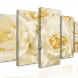 Tablou modular, Trandafiri albi