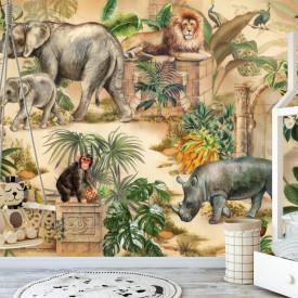 Tapet foto pentru copii, Animale preferate în junglă