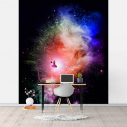 Fototapet, Dansul culorilor în cosmos