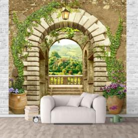 Fototapet Fresco, O priveliște arcuită a peisajului