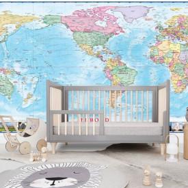Fototapet, Lumea pe hartă