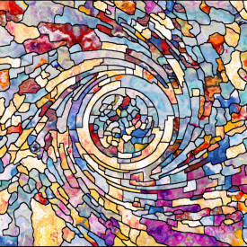Fototapet, Mozaicul culorilor