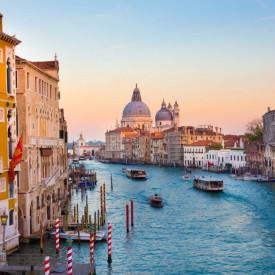 Fototapet Orase, Apus de soare frumos în Veneția