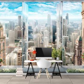 Fototapet, Priveliște la oraș de la înălțime