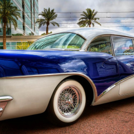 Fototapet Transport, Cadillac albastru