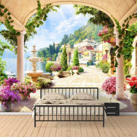 Fototapet, Un balcon cu flori