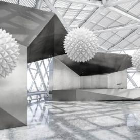 Fototapete 3D, Bile albe într-un spațiu elegant