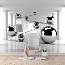 Fototapete 3D, Bile de argint în spațiul 3D