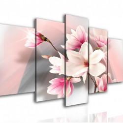 Multicanvas, Floare fină pe fundal roz.