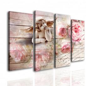 Multicanvas, Îngerul și bujori roz