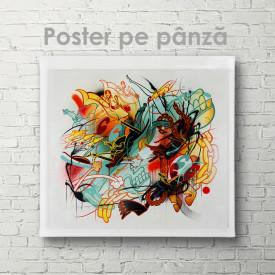 Poster, Abstracție multicoloră
