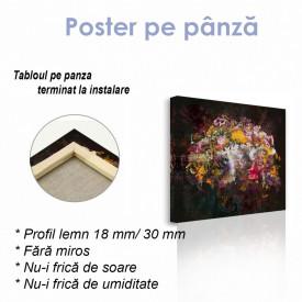 Poster, Abstracție strălucitoare pe un fundal de grafit