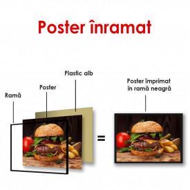 Poster, Burger cu cartofi prăjiți