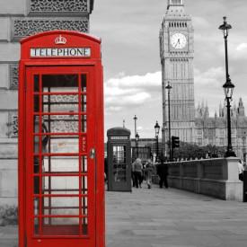 Poster, Cabină telefonică roșie din oraș
