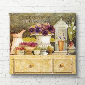 Poster, Decor cu flori violet