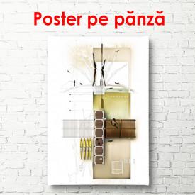 Poster, Fantezie în alb și maro
