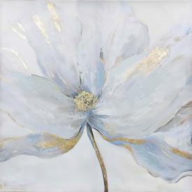 Poster, Floare delicată cu margini aurii