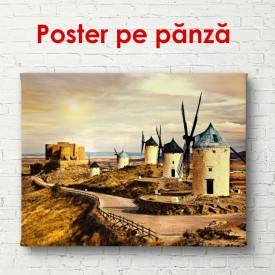 Poster, Mori de vânt pe câmp