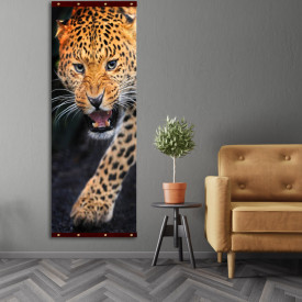 Rolap pe panza, Leopardul înfuriat